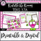 TEKS 3.7A / Riddle the Room: Fractions on a Number Line /