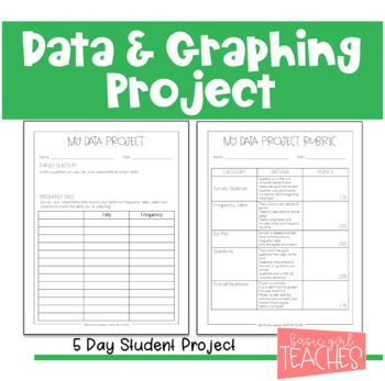 TEKS 3.8A and 3.8B Data and Graphing Project