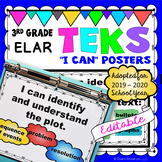 TEKS Posters 3rd Grade Reading and Writing I Can Statements