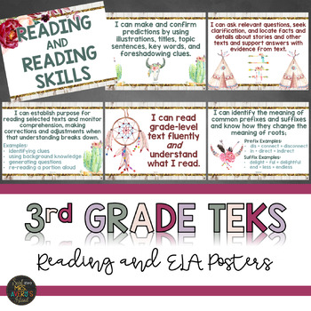 TEKS 3rd Grade Reading and Writing Standards - I Can Statements
