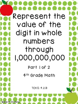TEKS 4.2.B Represent the value of the digit through 1,000,000,000 Scavenger Hunt