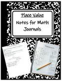TEKS 4.2A, 4.2B- Place Value and Expanded Notation Notes