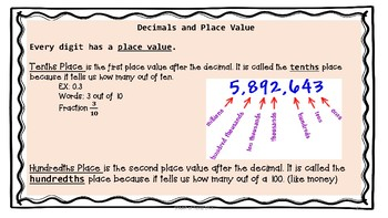 TEKS 4.2B,E,F Decimals Bundle