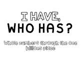 TEKS 4.2B I Have Who Has