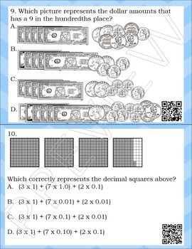 TEK 4.2B Place Value Task Cards w/ QR code answers