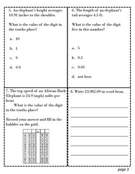 TEKS 4.2B Task Cards for STAAR Review - Decimals 4th Grade