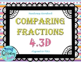 TEKS 4.3D Comparing Fractions task cards