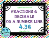 TEKS 4.3G Fractions and Decimals on a Number Line task cards