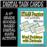 TEKS 4.4A / Distance Learning Digital Task Cards/ STAAR Pr