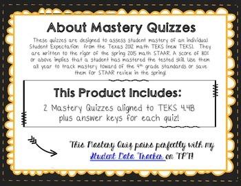 Mastery Quiz 4.4B: Multiplying by 10 and 100 {TEKS 4.4B}