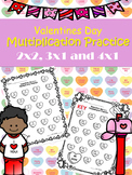 TEKS 4.4C & 4.4D : Upper level Valentines Day Multiplication Practice