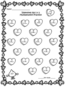 TEKS 4.4C & 4.4D : Upper level Valentines Day Multiplication Practice