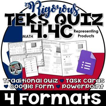 TEKS 4.4C Representing Multiplication with Arrays & Area Models RIGOROUS Quiz
