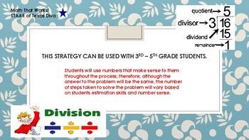 "TEKS 4.4E  The ""Big 7"" Division Strategy"