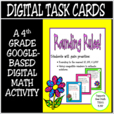 TEKS 4.4G / Distance Learning Digital Task Cards / Rounding Rules