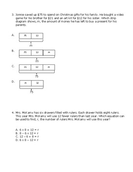 TEKS 4.5A Strip Diagrams and Equations