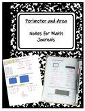 TEKS 4.5D Perimeter an Area Notes