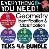 TEKS 4.6 Bundle - Geometry, Parallel & Perpendicular Lines, Angles, Polygons