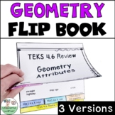 Geometric Attributes Math Flipbook Review TEKS 4.6