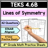 TEKS 4.6B Lines of Symmetry- 4th Grade STAAR Math Practice Sheets