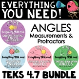 - TEKS 4.7 BUNDLE 4th grade angles, angle measurements, using a protractor