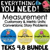 - TEKS 4.8 BUNDLE 4th grade measurement, conversions, time, & story problems