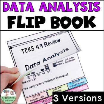 TEKS 4.9 Data Analysis Math Flipbook Review