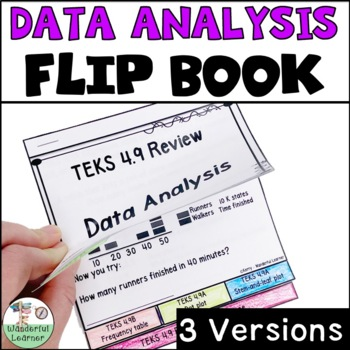Data Analysis Math Flipbook Review TEKS 4.9