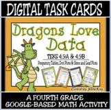 TEKS 4.9A, 4.9B / DIGITAL TASK CARDS / DATA TABLES