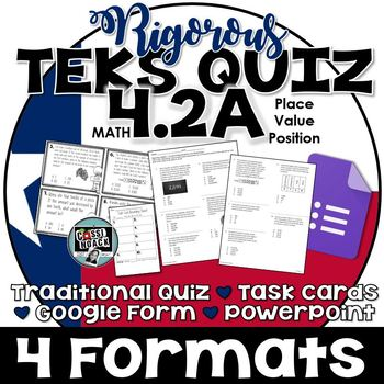 TEKS 4.2A Quiz- 10 rigorous questions to assess student learning