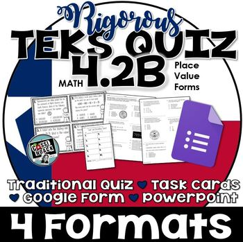 TEKS 4.2B Quiz- 10 rigorous and dual-coded questions to as