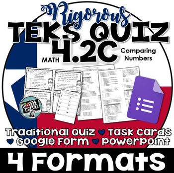 TEKS 4.2C Quiz- 10 rigorous and dual-coded questions to assess student learning