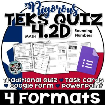 TEKS 4.2D Quiz- 10 rigorous and dual-coded questions to assess student learning