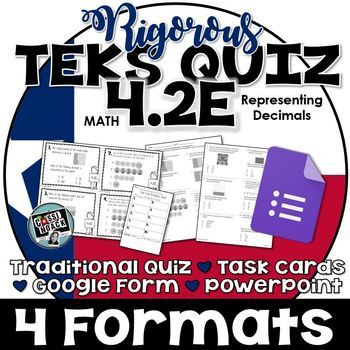 TEKS 4.2E Quiz- 10 rigorous and dual-coded questions to assess student learning