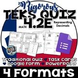 TEKS 4.2E  Task Cards, PowerPoint, Google Forms Quiz, Paper Quiz