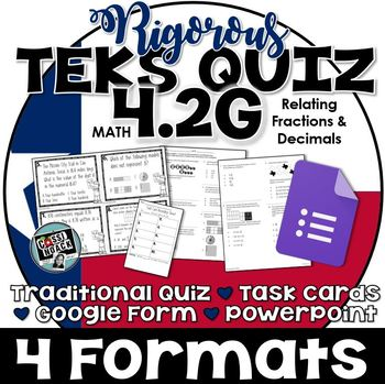 TEKS 4.2G Quiz- 10 rigorous and dual-coded questions to assess student learning