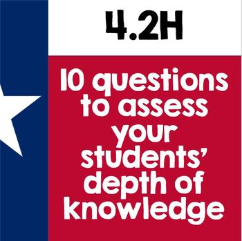 TEKS 4.2H Quiz- 10 rigorous and dual-coded questions to assess student learning