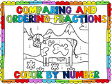TEKS 4.3D- Comparing & Ordering Fractions Color by Number