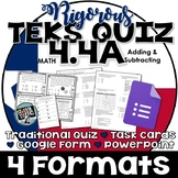 TEKS 4.4A Quiz- Rigorous Assessment of Add & Sub with deci