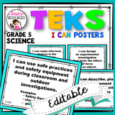 Science TEKS Posters 5th Grade TEKS I Can Statements