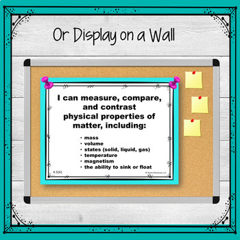 TEKS 4th Grade Science I Can Statements