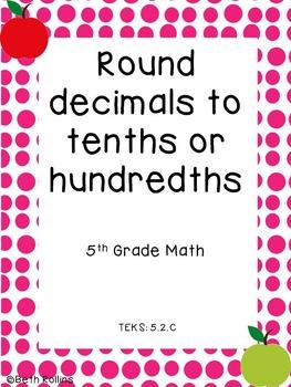 TEKS 5.2.C Round decimals to tenths or hundredths Scavenger Hunt