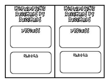 TEKS 5.3D and 5.3E Multiplying Decimals Journal Entries