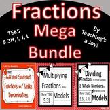 TEKS 5.3H, I, J, L  Fractions Mega Bundle