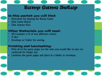TEKS 5.3I Bump Game