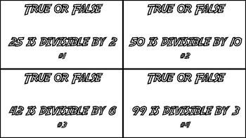 TEKS 5.4A Identify Prime and Composite Number TASK CARDS