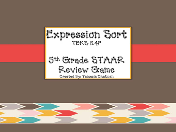 TEKS 5.4F Expressions Sort