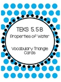 TEKS 5.5B Properties of Water Vocabulary Triangles