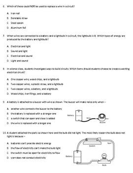 TEKS 5.6B Circuits Assessment