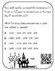 TEKS 6.2D Halloween QR Code Task Cards